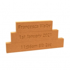 Baby Details Stacking Blocks (18mm)