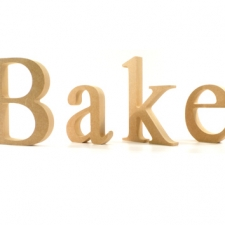 Bake, Individual Freestanding Letters, Times New Roman Font (18mm)