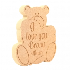 Bear, 'I love you Beary Much' (18mm)