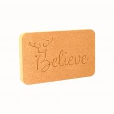 Believe (with Antlers) Plaque (18mm)