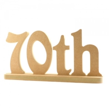 Birthday Number in a Stand (18mm)