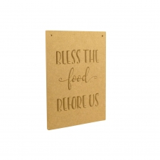 Bless The Food, Triple Plaque Set (6mm)
