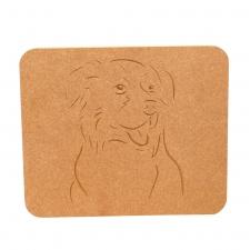 Border Collie Face Plaque (18mm)