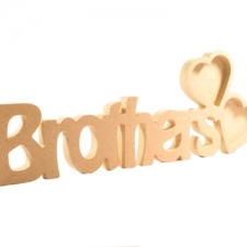 Brothers Photo Frame with 2 Hearts (18mm)