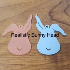 Bunny Head Shapes (Acrylic)
