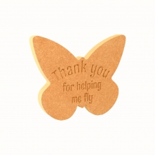 Butterfly engraved Thank you for helping me fly (18mm)