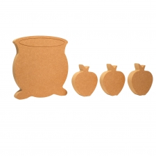 Cauldron and 3 Apples Set (18mm)