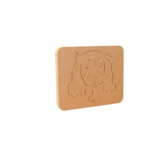 Cavalier King Charles Spaniel Dog Face Plaque (18mm)
