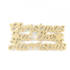 Christmas at the...Hanging Sign with SNOWFLAKES (6mm)