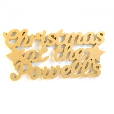 Christmas at the ... Hanging Sign, with STARS (6mm)