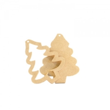 Christmas Tree Hanging Frame Decoration (6mm)