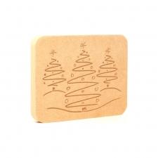 Christmas Tree Plaque (18mm)