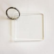 Clear Acrylic Bag Tag/Keyring (3mm)
