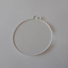 Clear Acrylic Bauble (3mm)