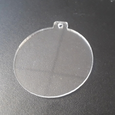 Clear Acrylic Bauble (3mm)