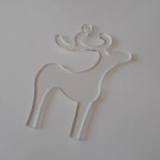Clear Acrylic Reindeer (3mm)