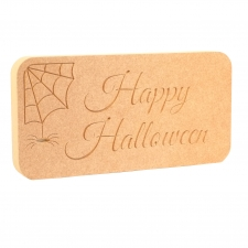 COBWEBS 'Happy Halloween' Freestanding Plaque (18mm)