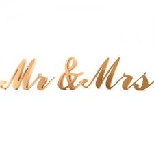 Mr & Mrs, Commercial Script, 3 pieces, (18mm)