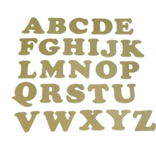 Cooper Black Font, Individual Capital Letters (6mm)