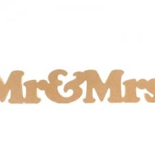 Mr & Mrs (1 piece) Cooper Black Font (18mm)