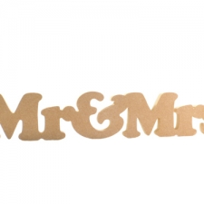 Mr & Mrs (1 piece) Cooper Black Font (18mm)