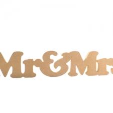 Cooper Black Font, Mr & Mrs (1 piece) (18mm)