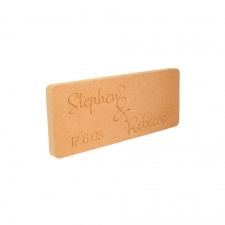 Couples Personalised Engraved Plaque (18mm)