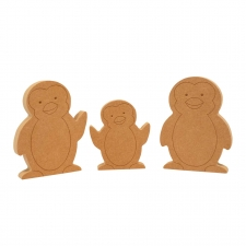 Cute Penguin Family (18mm)