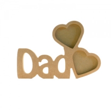 Dad Photo Frame with 2 Hearts (18mm)