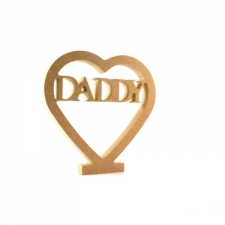 Daddy in a Heart (18mm)