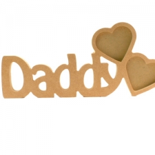 Daddy Photo Frame with 2 Hearts (18mm)