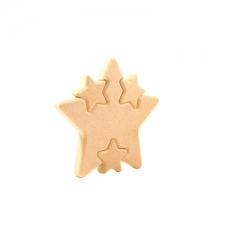 Star with Multiple Interlocking Stars (18mm)