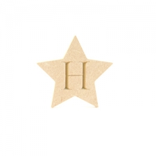 Engraved Star (9mm)