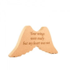 """Your wings were ready..."" Engraved Wings (18mm)"