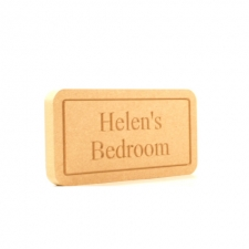 Bedroom Plaque, Engraved (18mm)