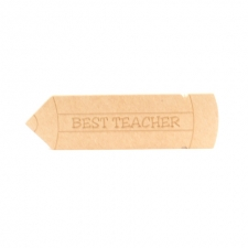 Engraved 'Best Teacher' Pencil (18mm)