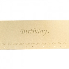 Engraved Birthdays Plaque