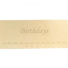 Birthdays Plaque, Engraved (6mm)