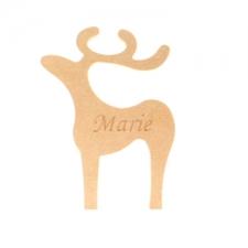 Classic Reindeer, Engraved (18mm)
