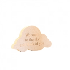 "Engraved Cloud Shape ""We smile to the sky..."" (18mm)"