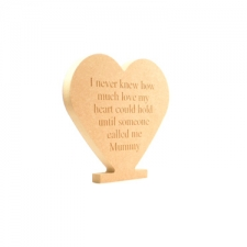 Engraved Freestanding Heart 'I never knew how much...' (18mm)