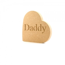 Engraved Freestanding Heart on the side - Daddy (18mm)