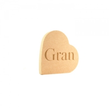 Engraved Freestanding Heart on the side - Gran (18mm)