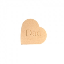 Engraved Freestanding Heart on the side - Dad (18mm)
