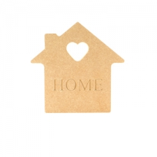 HOME, Engraved House Shape (18mm)