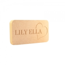 Name Plaque with Heart, Engraved (18mm)