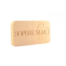 Engraved Freestanding Name Plaque with Heart (18mm)