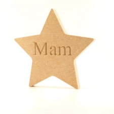 Engraved Freestanding Star - Mam (18mm)