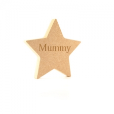 Engraved Freestanding Star - Mummy (18mm)