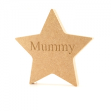 Star - Engraved Mummy (18mm)